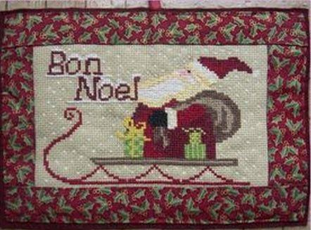 Санта на санях с подарками
