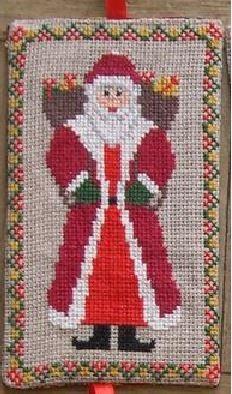 Санта с мешками подарков