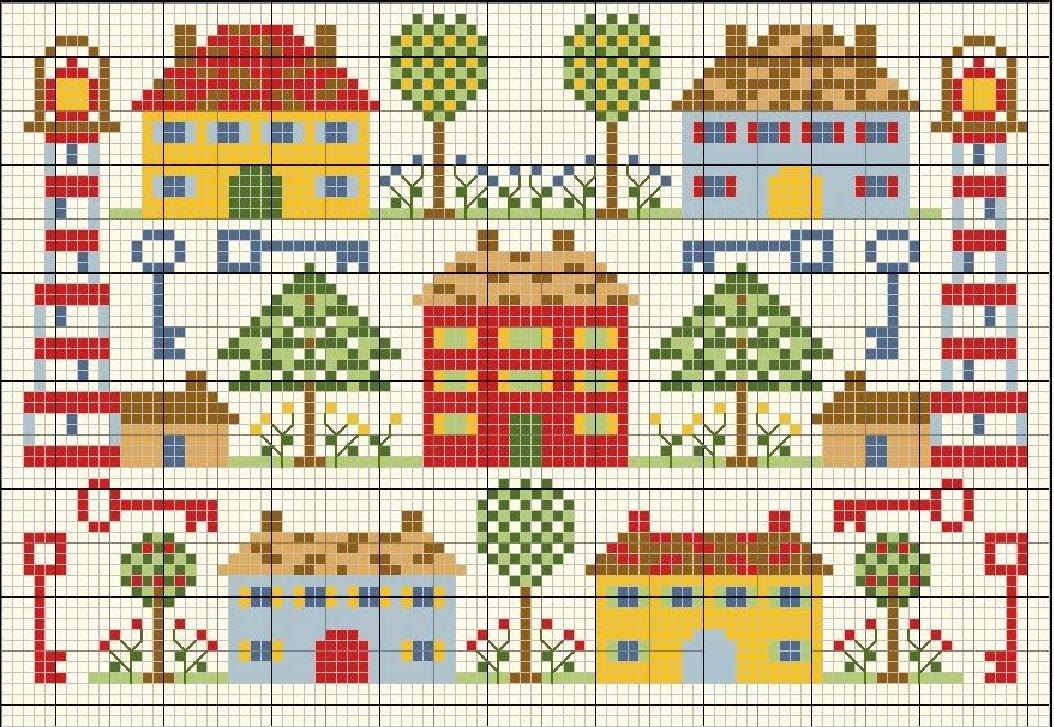 Схема вышивки крестом маяка с