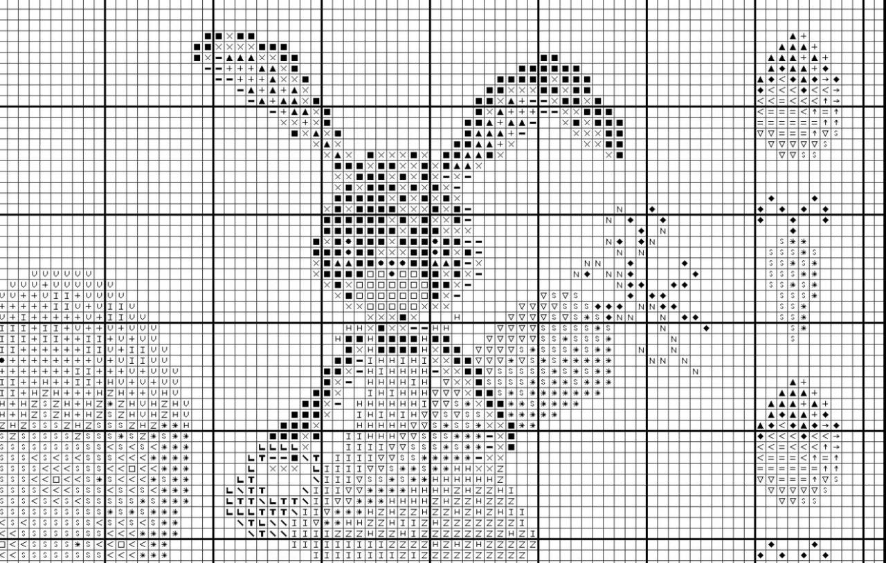 Схема природы для вышивки крестом