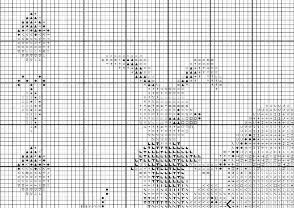 Схема вышивки крестом пасхальные яйца