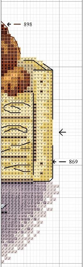 Схема вышивки играющих щенков