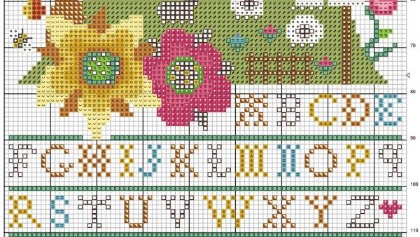 Схема для вышивки крестом Райской долины