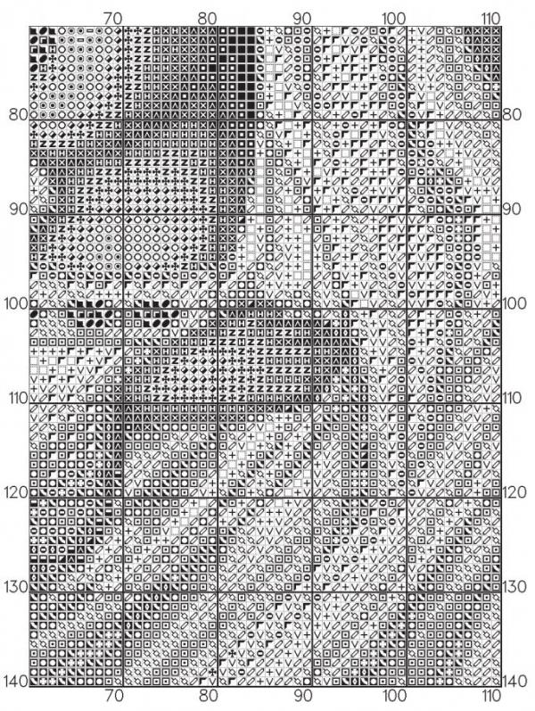 Схема для вышивки крестом Умиление икона