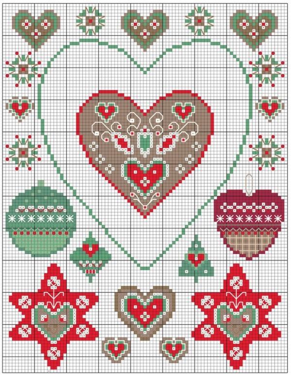 Схема вышивки к Рождеству