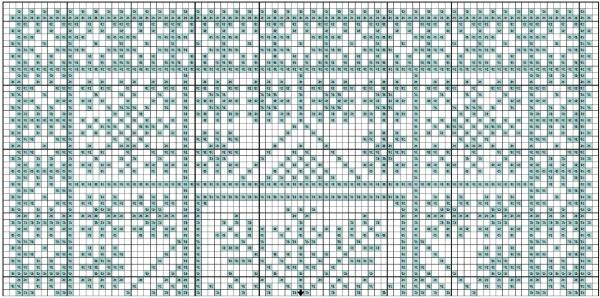 Схема вышивки крестом снежинки для подноса