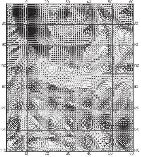 Схема вышивки крестом Умиление икона