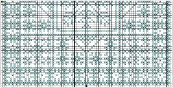 Схема вышивки снежинки для подноса