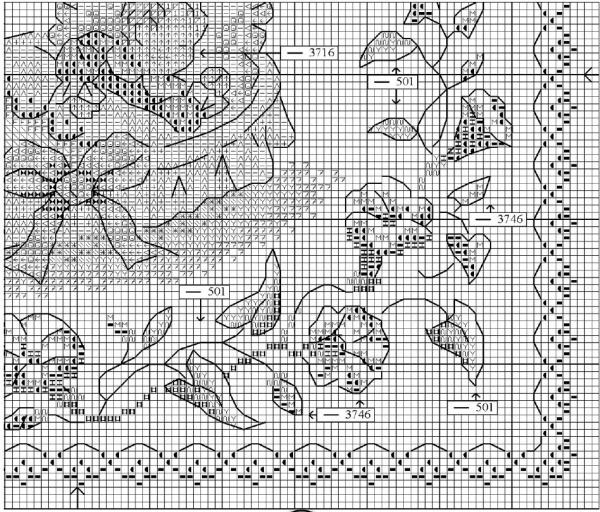 Схема для вышивки метрики малыш и заяц