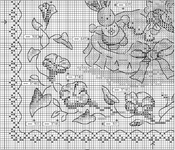 Схема вышивки детской метрики малыш и заяц