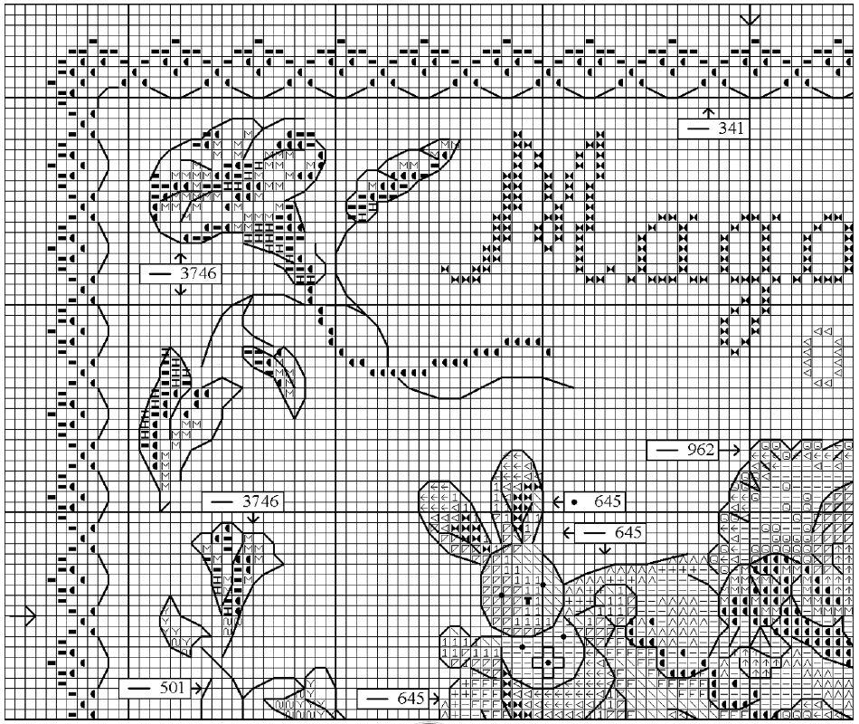 Схема вышивки крестом детской