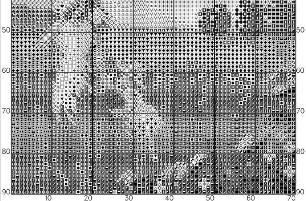 Схема для вышивки крестом летнего пейзажа