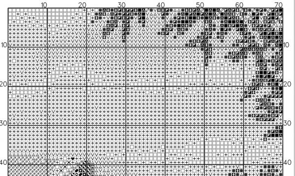 Схема вышивки крестом летнего пейзажа