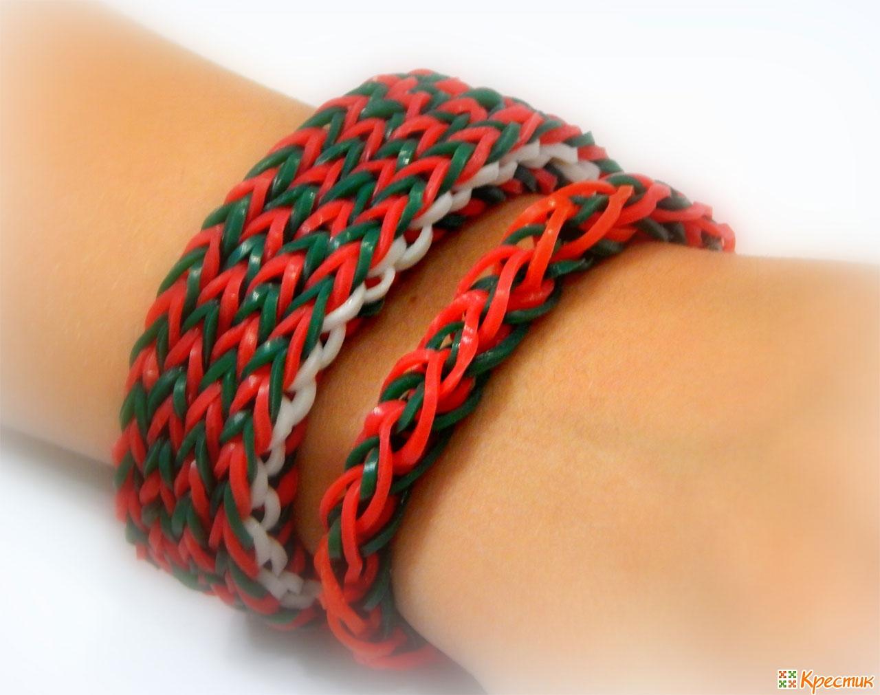 Фото схем плетения браслетов из резиночек 59