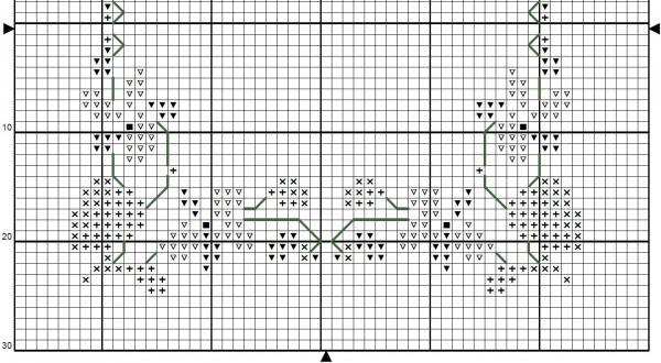 Схема для вышивки фиалковый венок