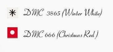 Ключ к схеме вышивки леденца рождественского