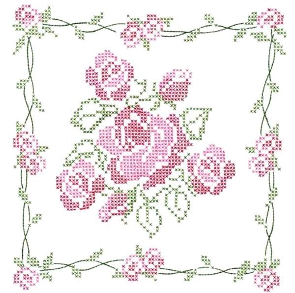 Схема вышивки печатным крестом