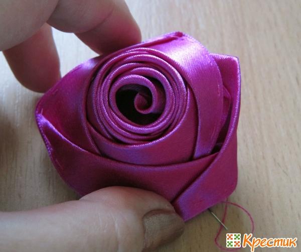 Полураскрывшийся бутон розы