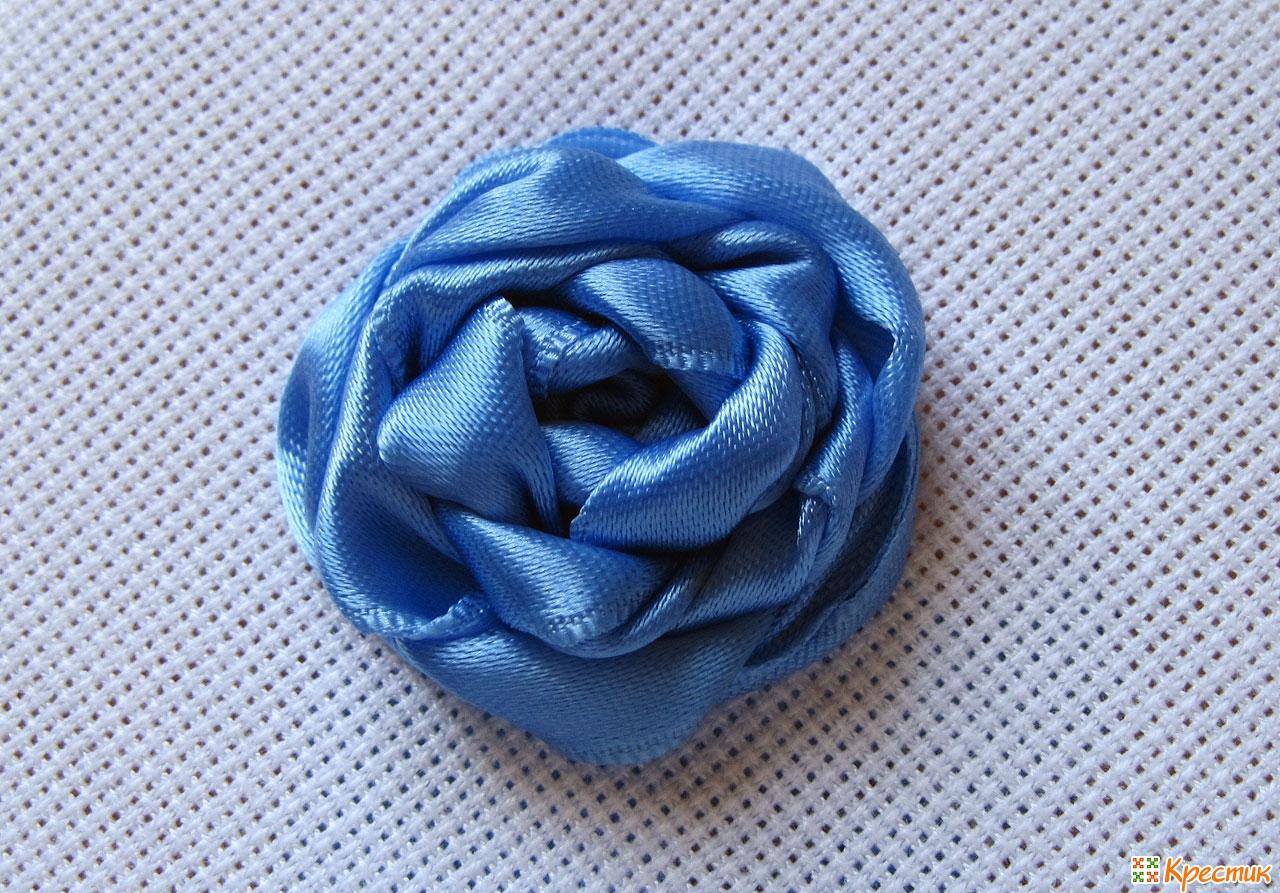 Вышивания из ленты роза