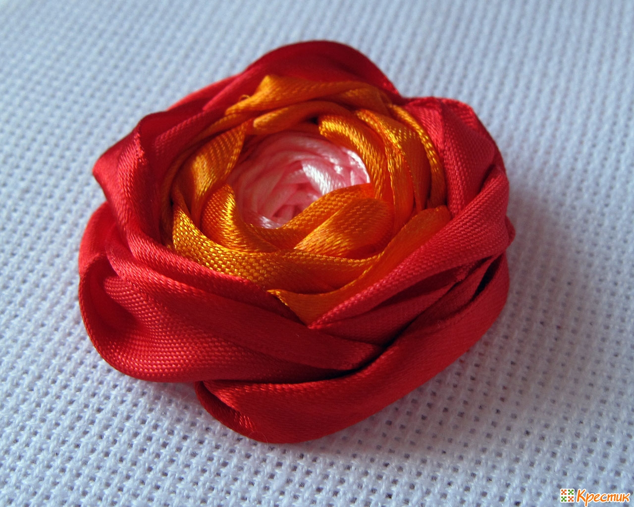 Вышивка из атласных лент своими руками мастер класс розы