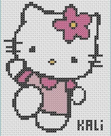 Кошка Kitty с цветком