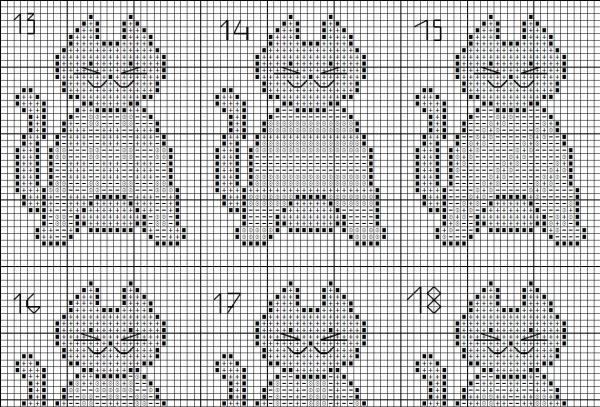 Схема для вышивки кошек