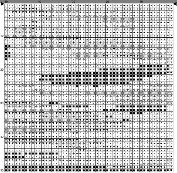 Схема для вышивки крестом преобразования природы