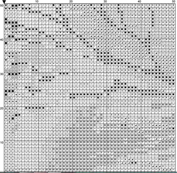 Схема для вышивки метаморфозы природы