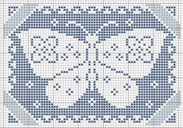 Схема вышивки крестом бабочки ассизи