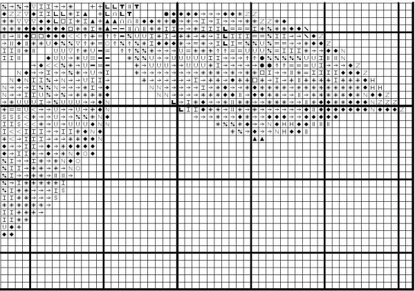 Схема для вышивки крестом каштанового листка