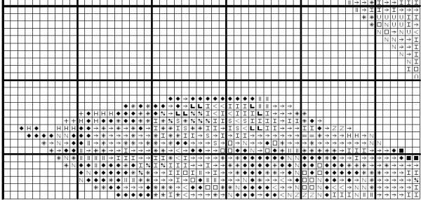 Схема вышивки листа каштана