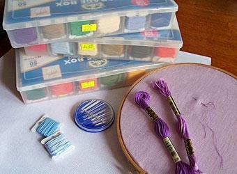 Как хранить мулине и иглы для вышивания