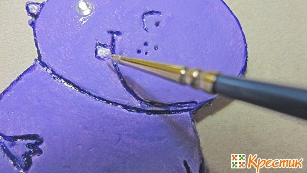 Рисуем зубик бегемотику