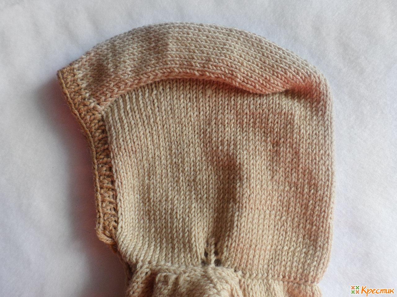 Как набрать петли для вязания капюшона