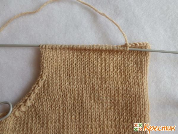 Мастер класс вязания детского свитера