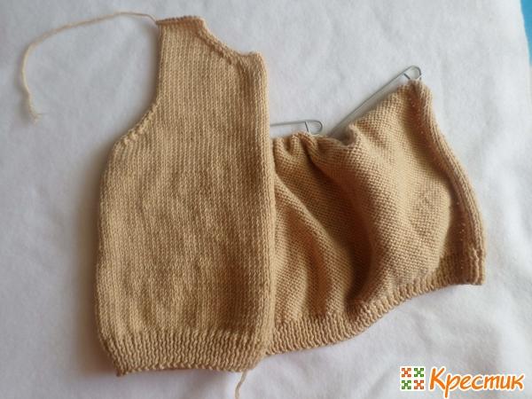 Правая полочка свитера