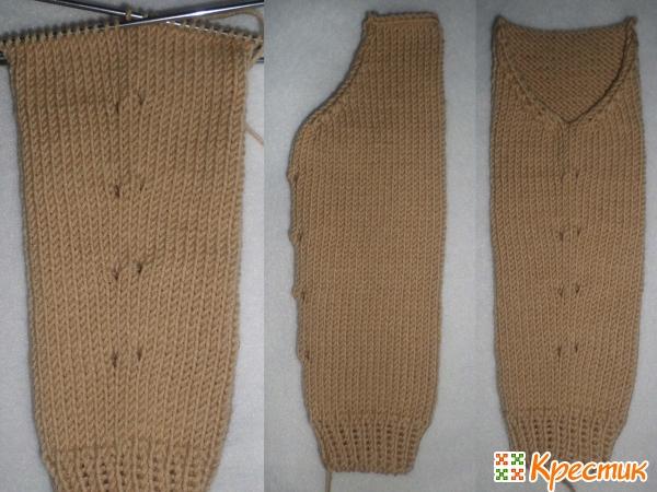 Вязание спицами бесшовных рукавов