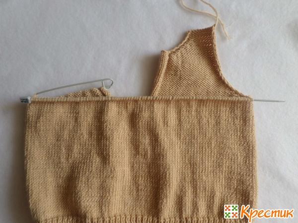 Вяжем спинку свитера