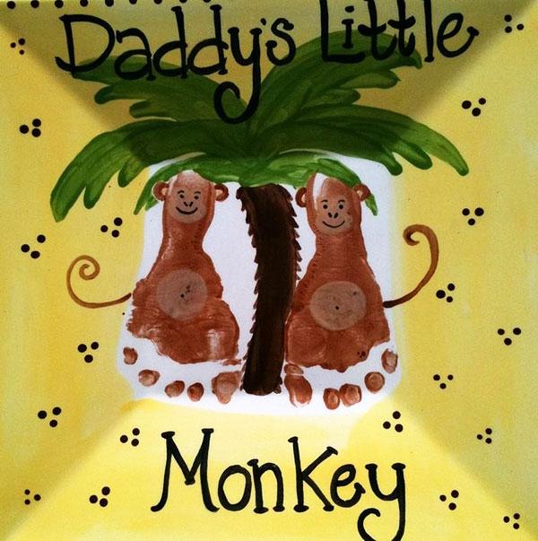 Открытка с обезьяной