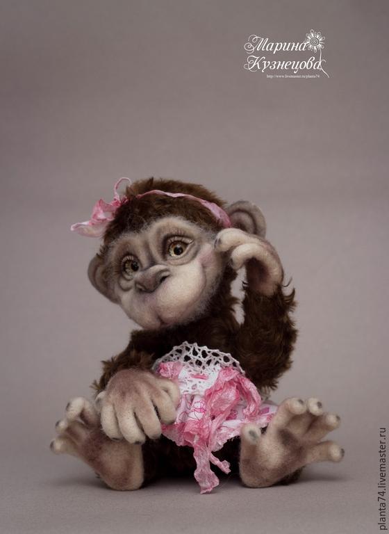 Валяние из шерсти обезьянки