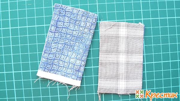 Сшиваем остатки ткани