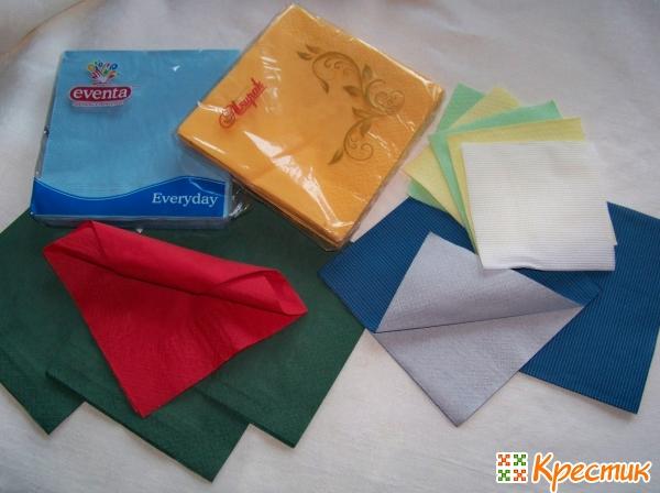 Салфетки бумажные без рисунка