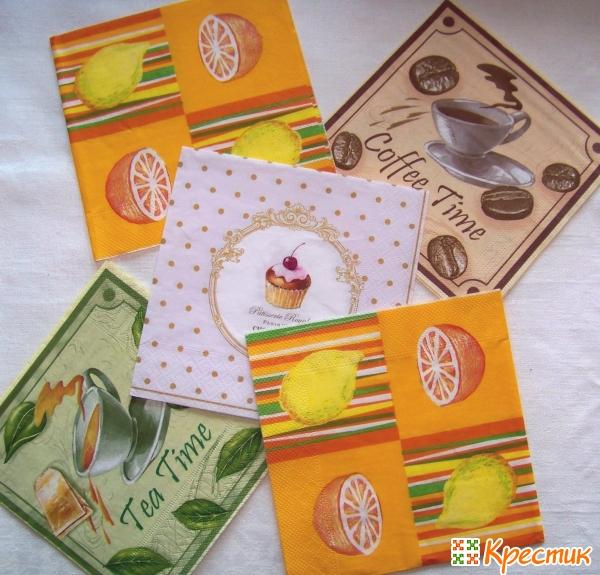 Салфетки с кухонной тематикой