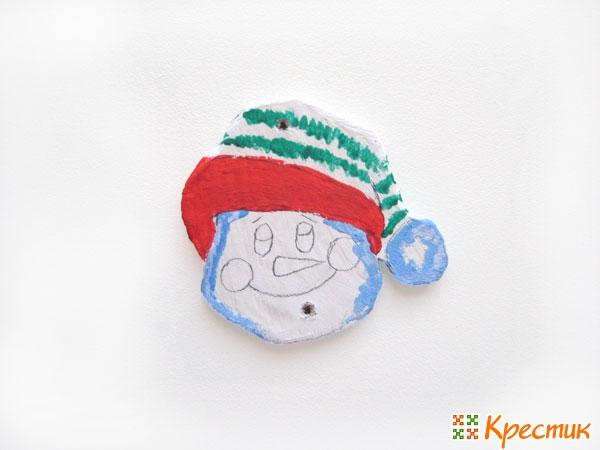 Снеговик из ДСП своими руками
