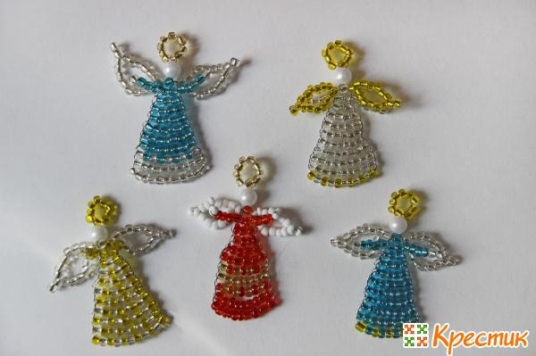 Ангелы из бисера своими руками