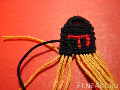 Фенечки прямым плетением