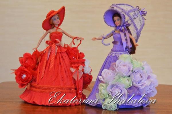 Барби из конфет своими руками