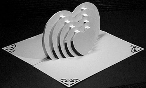 Объемная открытка из бумаги