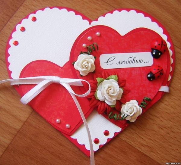 Скрап открытка на День Святого Валентина