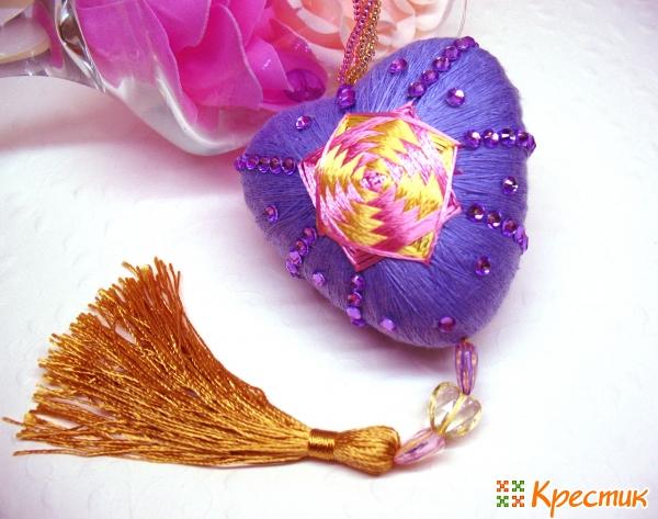 Фиолетовое сердечко темари